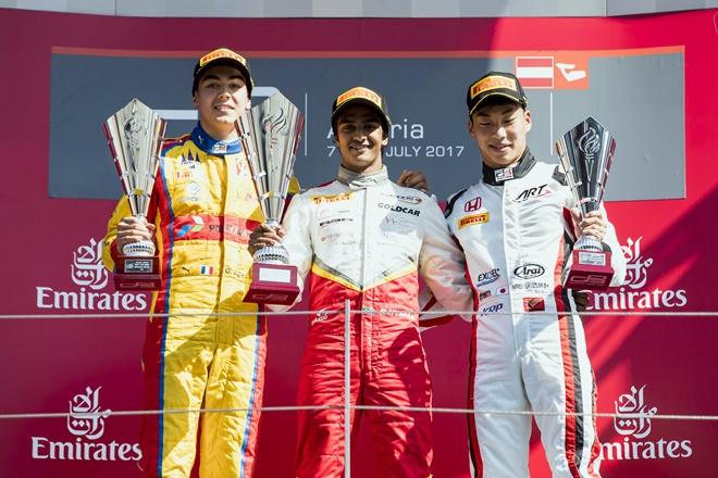 gp3 podio speilberg campos racing Hyman