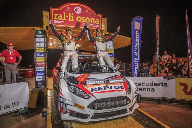 membrado-villamala fiesta r5 podio rallye osona