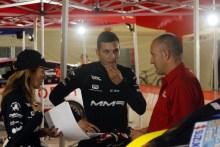 Cristian García en el cierre del Aragonés de Rallyes en Tabuerca
