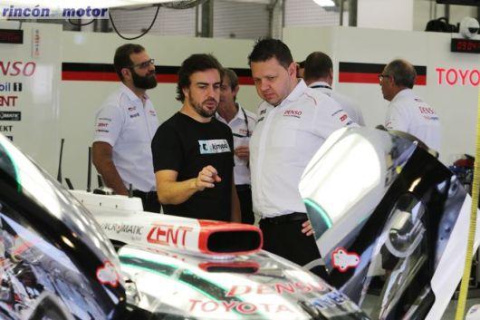 fernanado alonso wec test bahrein