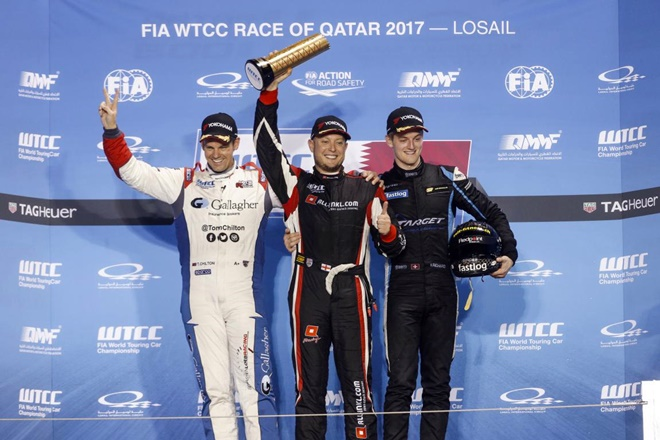 podio qatar wtcc campos racing Kris Richard