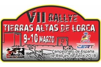 El VII Rallye Tierras Altas de Lorca ya tiene cartel