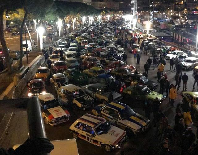Rallye Monte-Carlo Historique 2018 parqe cerrado puerto