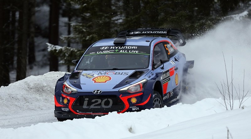 Rallye suecia Neuville hyundai i20 wrc