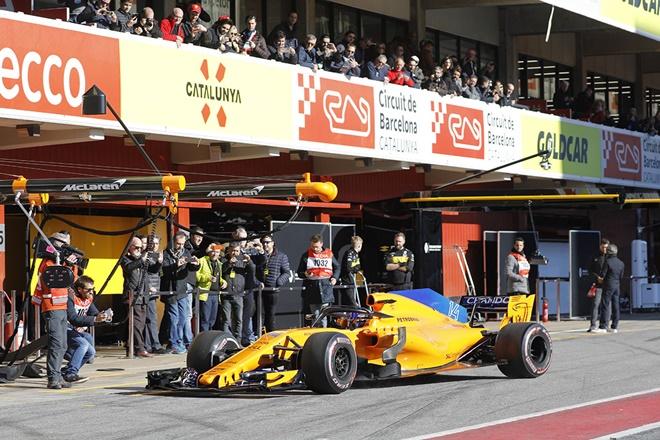 F1 test cataluna mclaren alonso