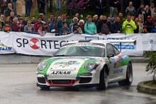 Aznar de nuevo conel Porscheen la segunda prueba del Nacional deMontaña
