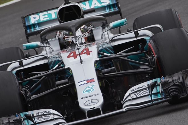 F1 Montmelo 44 Hamilton Mercedes-AMG