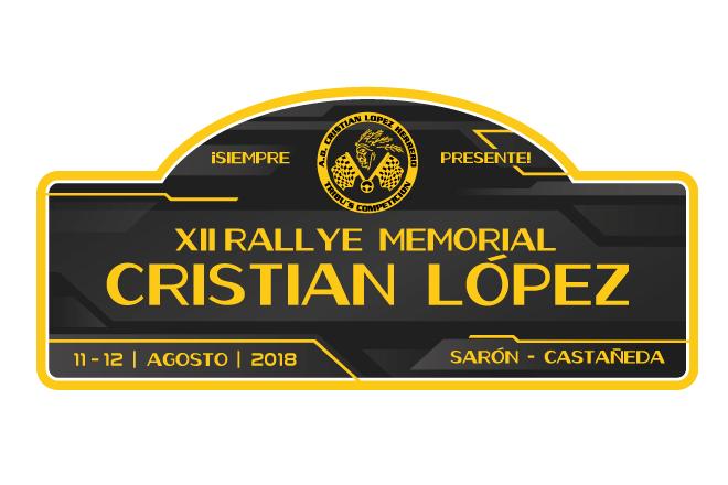 placa rallye cristian lopez 18