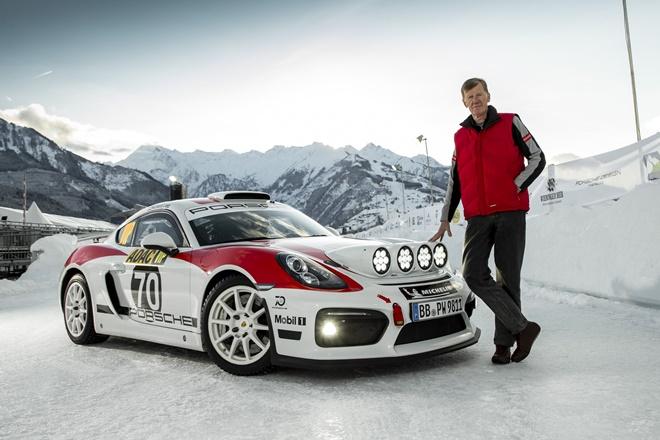 Walter Rohrl Porsche Cayman GT4 Rallye