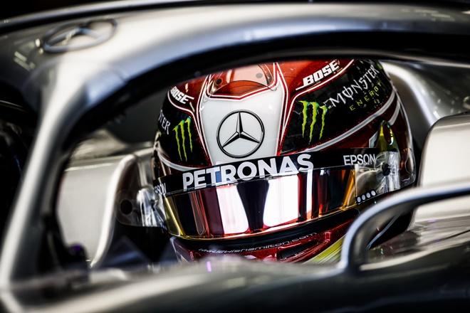 mercedes hamilton casco petronas f1 bahrein