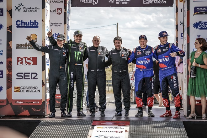 Baja Aragon 2019 podio