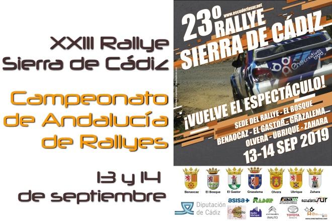 rallye sierra cadiz 2019 cartel