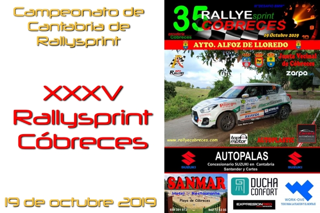 Rallysprint Cóbreces 2019 cartel