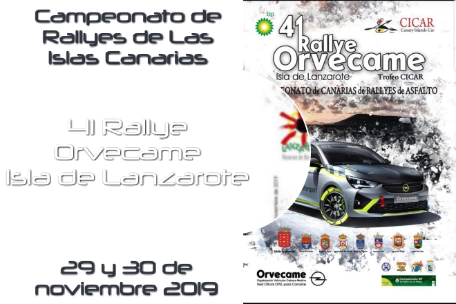 rallye orvecame tenerife 2019 cartel