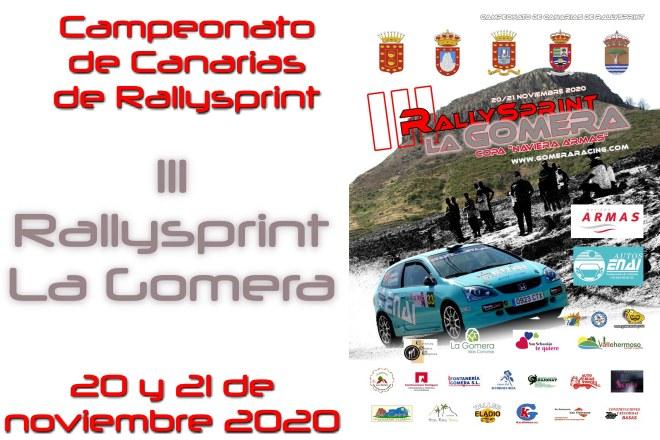 cartel rallysprint la gomera2020