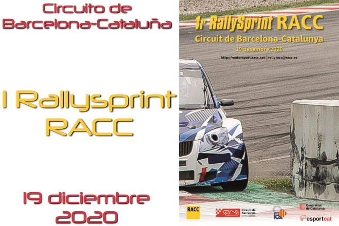 rallysprint racc circuito barcelona cartel 2020