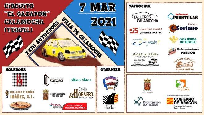 Cartel XXIII Autocross Villa de Calamocha catyel 2021