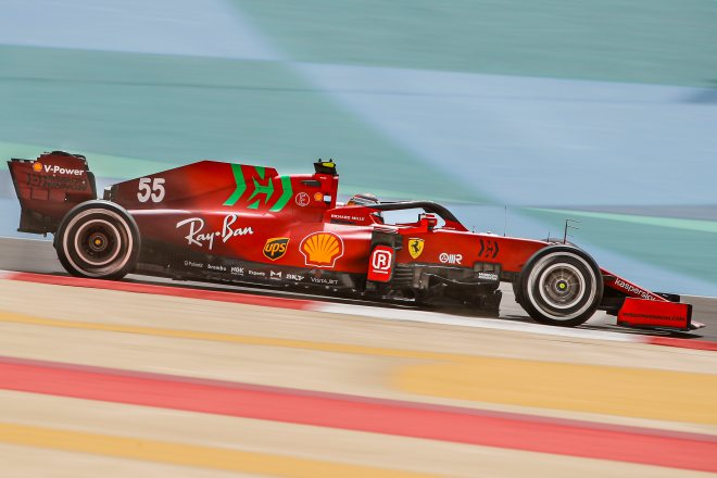 ferrari sainz test f1 bahrein 2021