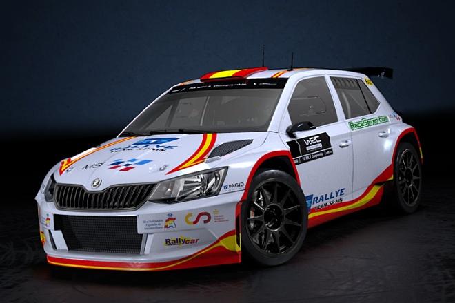 skoda fabia r5 rally team spain pepe lopez wrc3