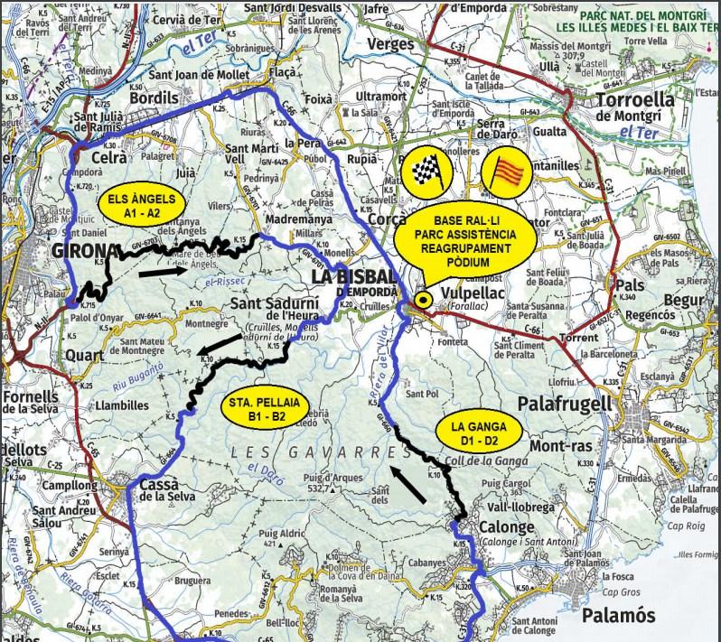 mapa tramos rallye emorda 2021