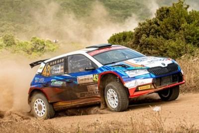 Pepe López y Jan Solans en el podio de WRC3 y en el top 10 del Rallye de Cerdeña