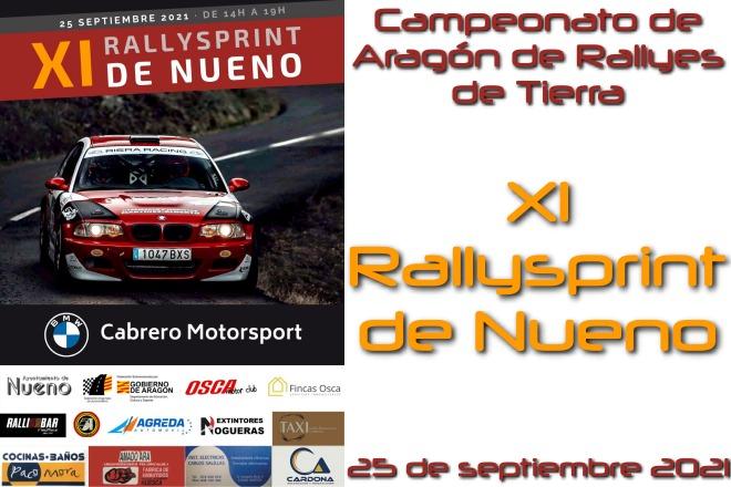 Cartel XI Rallysprint Nueno