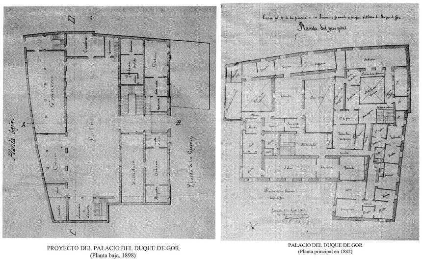 PROYECTO - CASA PALACIO DE LOS DUQUES DE GOR - 1892