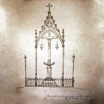 Templete proyectado en 1884 por el grabador granadino Francisco Casado y Esteve para el Cristo de los Favores