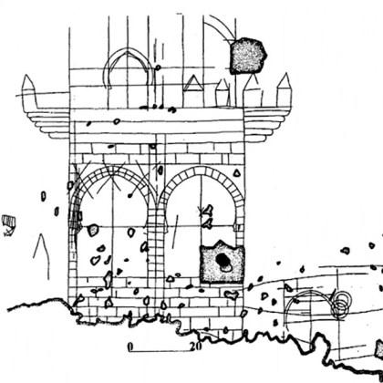 """""""Trazados de edificios moros"""": graffiti medievales en los subterráneos de la torre de Comares de La Alhambra"""