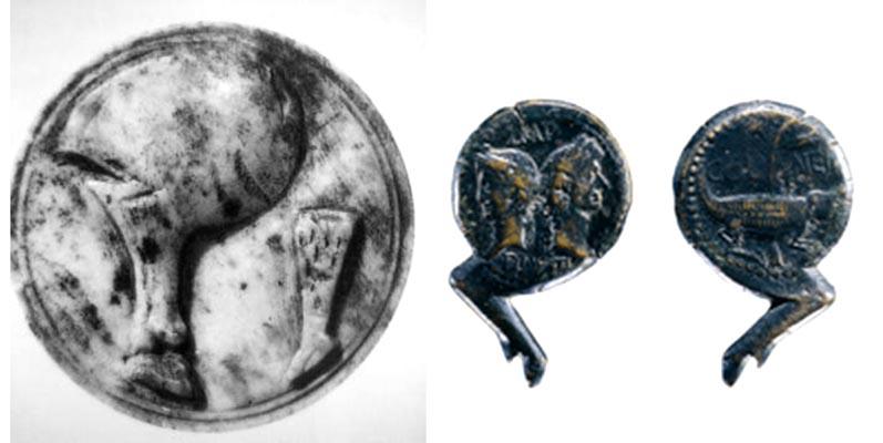 Monedas romanas - jamón serrano -