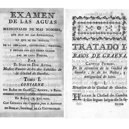 JUAN DE DIOS AYUDA - EXAMEN SOBRE EL BALNEARIO DE GRAENA