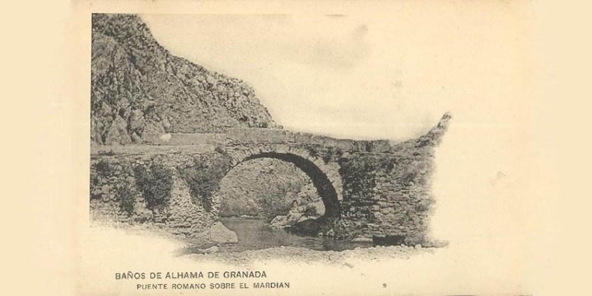PUENTE ROMANO DE ALHAMA FOTO 1906