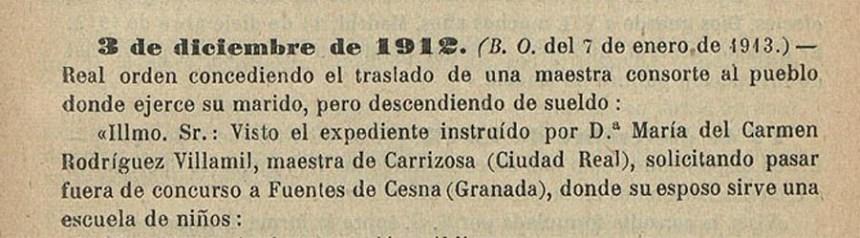 Maestros de la escuela de Fuentes de Cesna - 1912