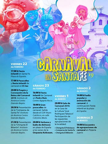 PROGRAMA DEL CARNAVAL DE SANTA FE 2019