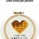 I love you a waffle lot cross stitch pdf pattern