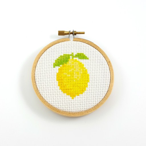 lemon cross stitch pdf pattern