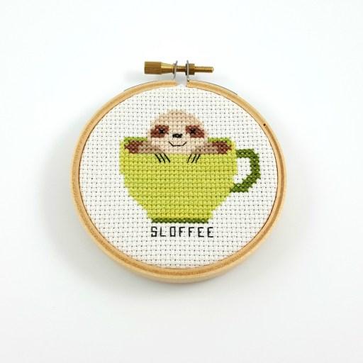 sloffee cross stitch pdf pattern