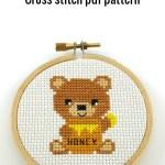 honey bear cross stitch pdf pattern