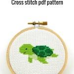 sea turtle cross stitch pdf pattern