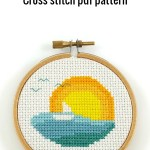 sunset cross stitch pdf pattern