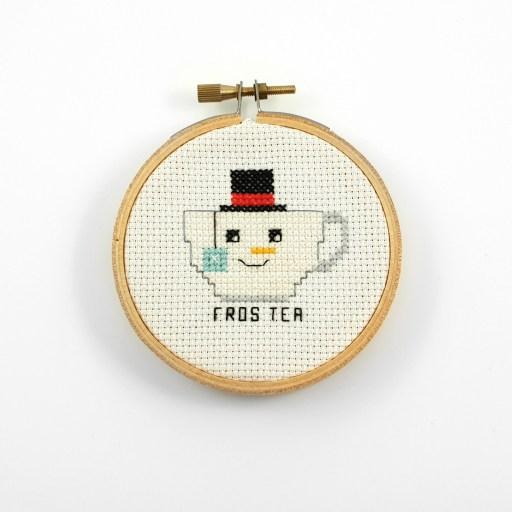 fros tea cross stitch pdf pattern