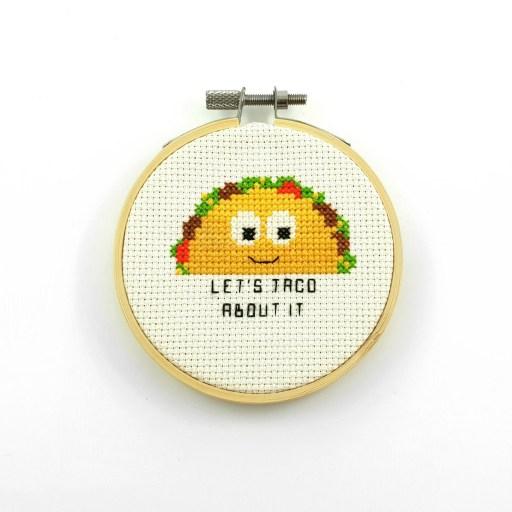 Let's taco about it cross stitch pdf pattern