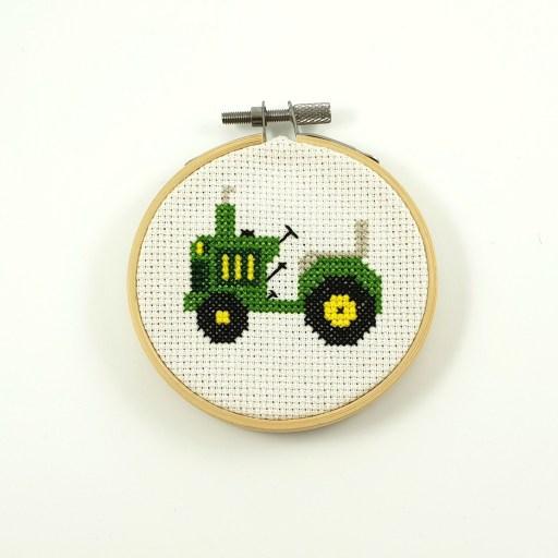 Tractor cross stitch pdf patterb