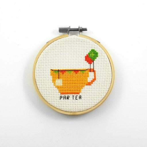 Par tea cross stitch pdf pattern