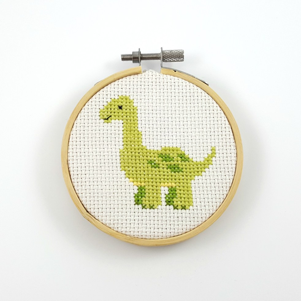 Apatosaurus cross stitch pdf pattern