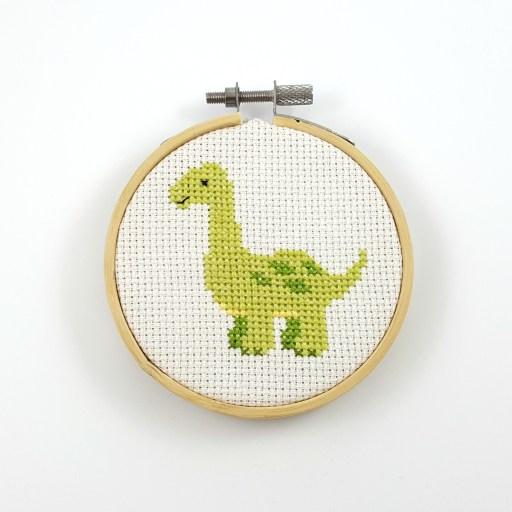 Apatosaurus cross stitch pdf pattern