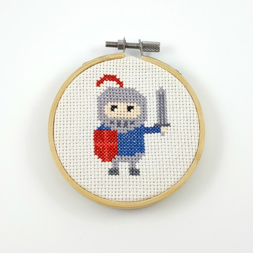 blue knight cross stitch pdf pattern