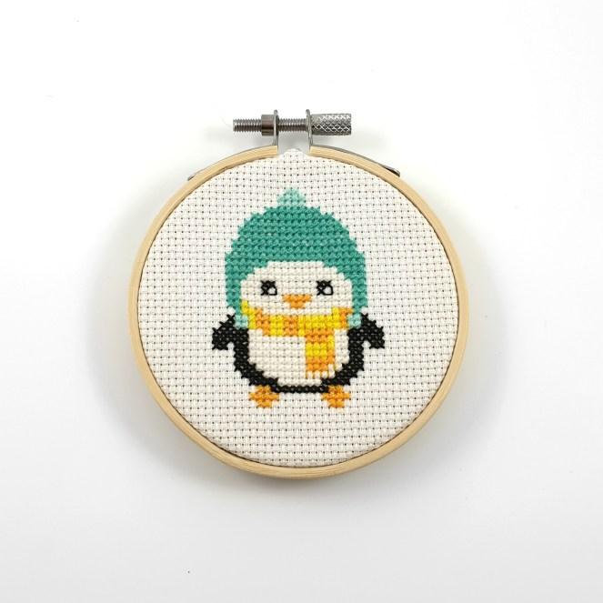 Penguin cross stitch pdf pattern