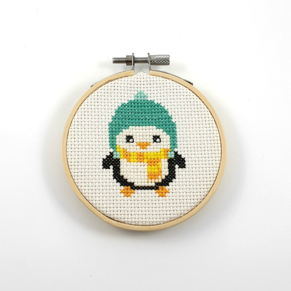 penguin cross stitch pattern