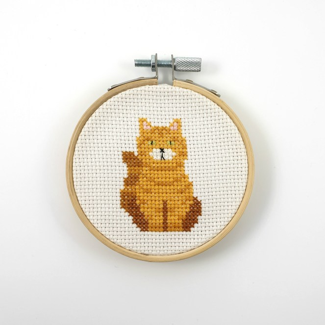 Tabby cat cross stitch pdf pattern